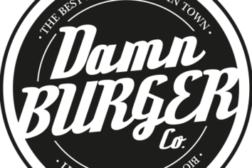 Damn burger logo