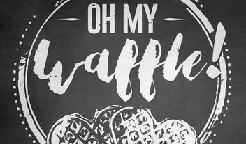 oh my waffle logo
